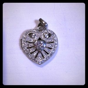 Sterling Silver bling Heart locket